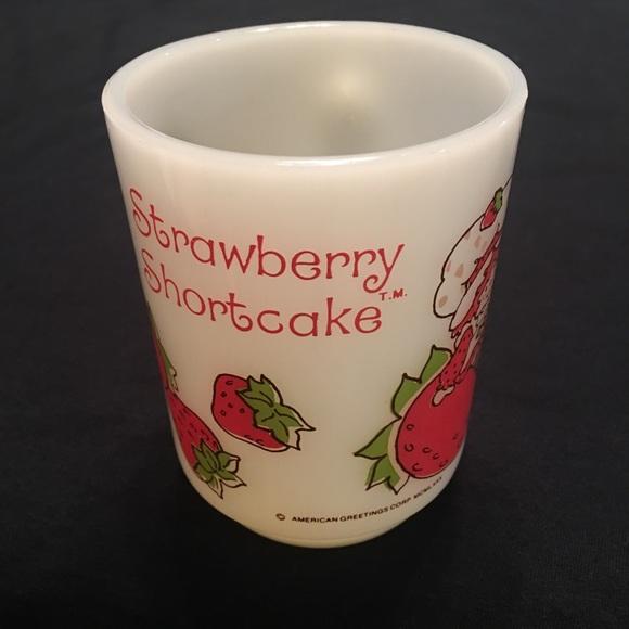 Anchor Hocking Kitchen Vintage Strawberry Shortcake Cup Poshmark